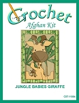 Jungle Babies Giraffe Crochet Afghan Kit