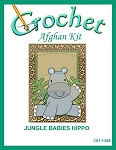 Jungle Babies Hippo Crochet Afghan Kit