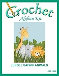 Jungle Safari Animals Crochet Afghan Kit