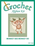 Monkey See Monkey Do Crochet Afghan Kit