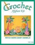 Patch Work Baby Animals Crochet Afghan Kit