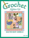 Quilted Baby Animals Crochet Afghan Kit