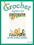 Safari Jungle Babies Crochet Afghan Kit