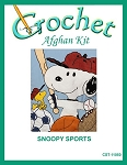 Snoopy Sports Crochet Afghan Kit