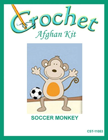 Soccer Monkey Crochet Afghan Kit