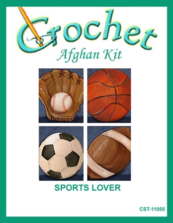Sports Lover Crochet Afghan Kit