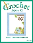 Sweet Dreams Baby Boy Crochet Afghan Kit