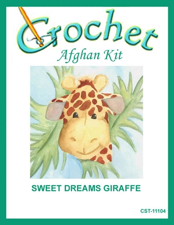 Sweet Dreams Giraffe Crochet Afghan Kit