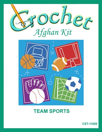 Team Sports Crochet Afghan Kit