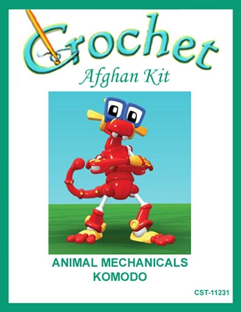 Animal Mechanicals Komodo Crochet Afghan Kit Cst 11231