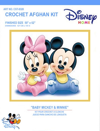 Baby Mickey & Minnie Crochet Afghan Kit