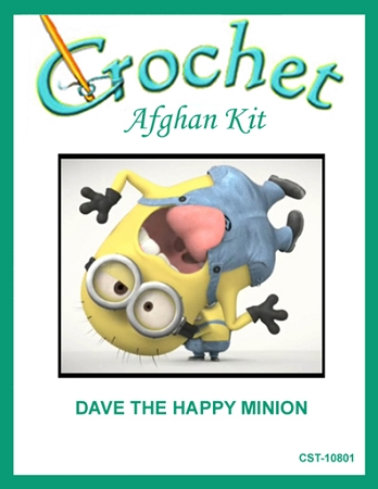 Dave The Happy Minion Crochet Afghan Kit