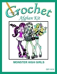 Monster High Girls Crochet Afghan Kit