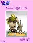 Shrek & Donkey Crochet Afghan Kit