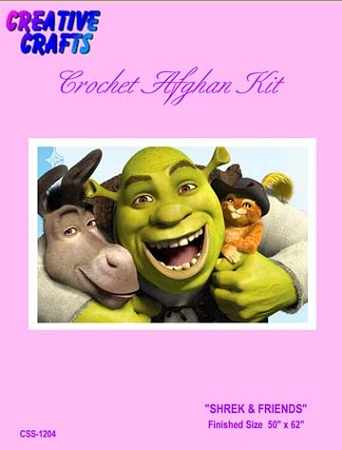 Shrek & Friends Crochet Afghan Kit