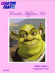 Shrek Ogre Crochet Afghan Kit
