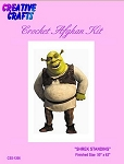 Shrek Standing Crochet Afghan Kit