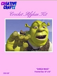 Shrek Wave Crochet Afghan Kit
