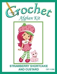 Strawberry Shortcake And Custard Crochet Afghan Kit
