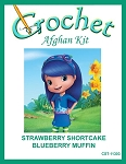 Strawberry Shortcake - Blueberry Muffin Crochet Afghan Kit