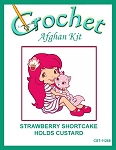 Strawberry Shortcake Holds Custard Crochet Afghan Kit