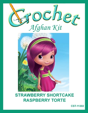 Strawberry Shortcake - Raspberry Torte Crochet Afghan Kit