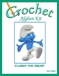 Clumsy The Smurf Crochet Afghan Kit
