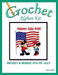 Mickey & Minnie 4th Of July Crochet Afghan Kit
