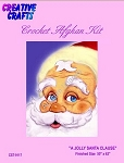 A Jolly Santa Clause Crochet Afghan Kit