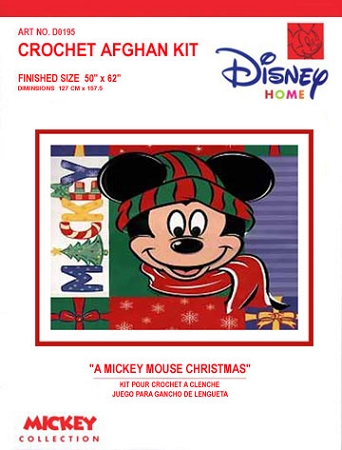 A Mickey Mouse Christmas Crochet Afghan Kit