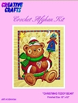 Christmas Teddy Bear Crochet Afghan Kit