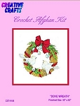 Dove Wreath Crochet Afghan Kit
