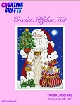 Father Christmas Crochet Afghan Kit