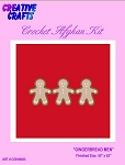 Gingerbread Men Crochet Afghan Kit