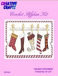 Holiday Stockings Crochet Afghan Kit