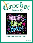 A Colorful New Year Crochet Afghan Kit