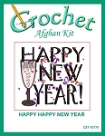Happy Happy New Year Crochet Afghan Kit