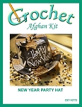 New Year Party Hat Crochet Afghan Kit