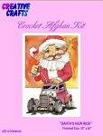 Santa's New Ride Crochet Afghan Kit