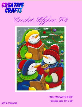Snow Carolers Crochet Afghan Kit