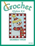 Snowman Throw Crochet Afghan Kit