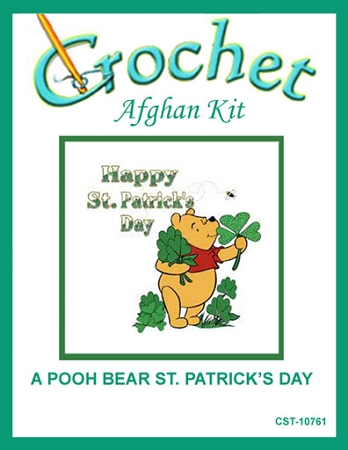 A Pooh Bear St. Patrick's Day Crochet Afghan Kit