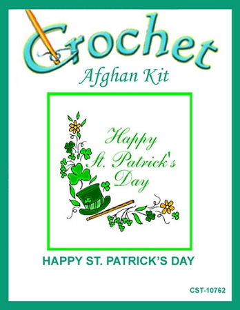Happy St. Patrick's Day Crochet Afghan Kit