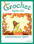 Thanksgiving Day Tweety Crochet Afghan Kit