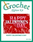 Happy Valentine's Day Crochet Afghan Kit