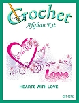 Hearts With Love Crochet Afghan Kit