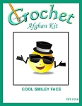 Cool Smiley Face Crochet Afghan Kit