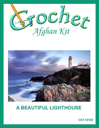 A Beautiful Lighthouse Crochet Afghan Kit
