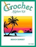 Beach Sunset Crochet Afghan Kit