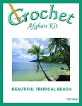Beautiful Tropical Beach Crochet Afghan Kit